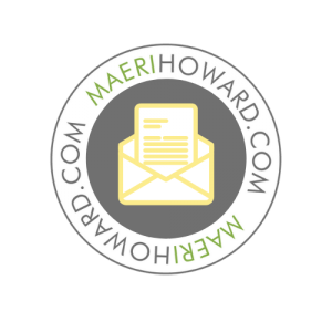 maeri howard logo with a envelope in the middle
